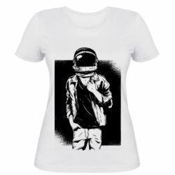 Женская футболка Рок Космонавт