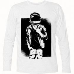 Футболка с длинным рукавом Рок Космонавт