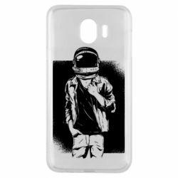 Чехол для Samsung J4 Рок Космонавт