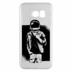 Чехол для Samsung S6 EDGE Рок Космонавт