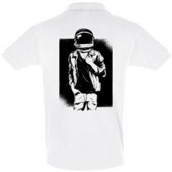 Мужская футболка поло Рок Космонавт