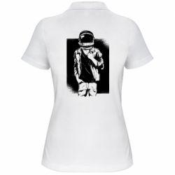 Женская футболка поло Рок Космонавт