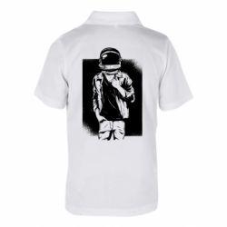 Детская футболка поло Рок Космонавт