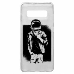 Чехол для Samsung S10+ Рок Космонавт
