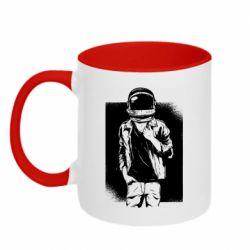 Кружка двухцветная 320ml Рок Космонавт