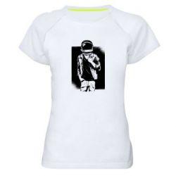 Женская спортивная футболка Рок Космонавт