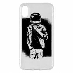 Чехол для iPhone X/Xs Рок Космонавт