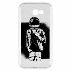 Чехол для Samsung A7 2017 Рок Космонавт