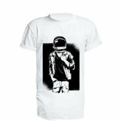 Удлиненная футболка Рок Космонавт