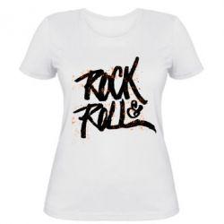 Женская футболка Рок н ролл