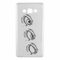 Чехол для Samsung A7 2015 Rolling eyes in stages