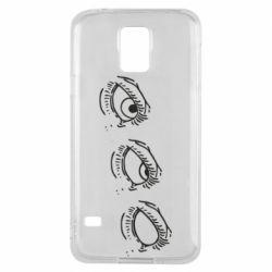 Чехол для Samsung S5 Rolling eyes in stages