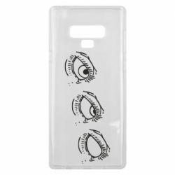 Чехол для Samsung Note 9 Rolling eyes in stages