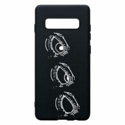 Чехол для Samsung S10+ Rolling eyes in stages
