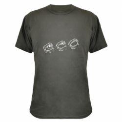 Камуфляжная футболка Rolling eyes in stages