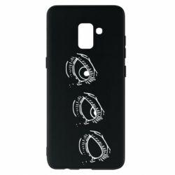 Чехол для Samsung A8+ 2018 Rolling eyes in stages