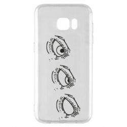 Чехол для Samsung S7 EDGE Rolling eyes in stages