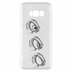 Чехол для Samsung S8 Rolling eyes in stages