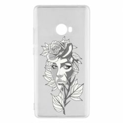 Чехол для Xiaomi Mi Note 2 Rose with a girl's face