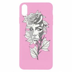 Чохол для iPhone Xs Max Rose with a girl's face