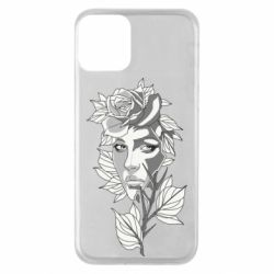 Чохол для iPhone 11 Rose with a girl's face