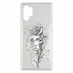 Чохол для Samsung Note 10 Plus Rose with a girl's face