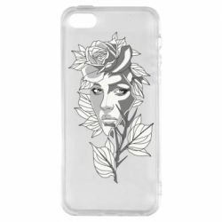 Чохол для iphone 5/5S/SE Rose with a girl's face