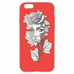 Чохол для iPhone 6/6S Rose with a girl's face
