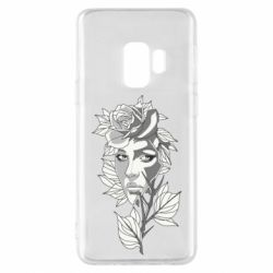Чохол для Samsung S9 Rose with a girl's face