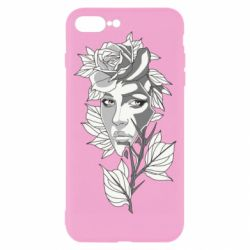 Чохол для iPhone 8 Plus Rose with a girl's face