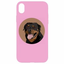 Чехол для iPhone XR Rottweiler vector