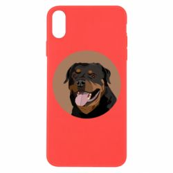Чехол для iPhone Xs Max Rottweiler vector