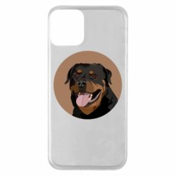 Чехол для iPhone 11 Rottweiler vector