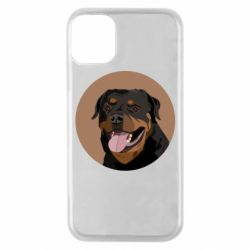 Чехол для iPhone 11 Pro Rottweiler vector