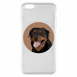 Чехол для iPhone 6 Plus/6S Plus Rottweiler vector