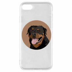 Чехол для iPhone 7 Rottweiler vector