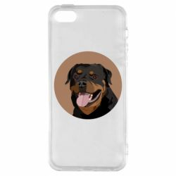 Чехол для iPhone5/5S/SE Rottweiler vector