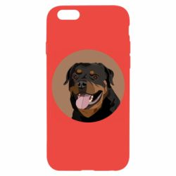 Чехол для iPhone 6/6S Rottweiler vector