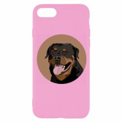Чехол для iPhone 8 Rottweiler vector