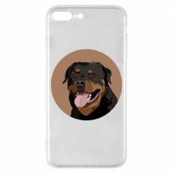 Чехол для iPhone 8 Plus Rottweiler vector