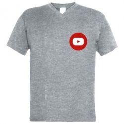 Чоловіча футболка з V-подібним вирізом Round logo