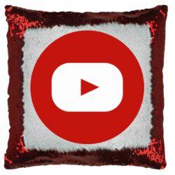 Подушка-хамелеон Round logo