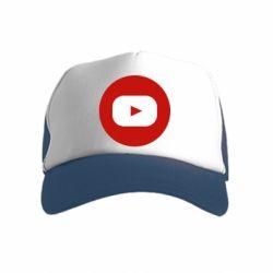 Дитяча кепка-тракер Round logo