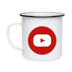Кружка емальована Round logo