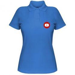 Жіноча футболка поло Round logo