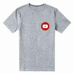 Чоловіча стрейчева футболка Round logo