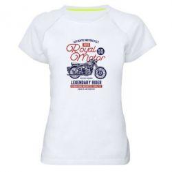 Жіноча спортивна футболка Royal Motor 1955