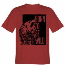 Мужская футболка Рожден Быть Диким Медведь
