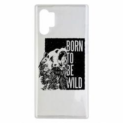Чехол для Samsung Note 10 Plus Рожден Быть Диким Медведь