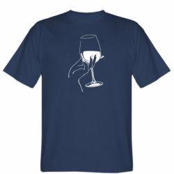 Мужская футболка Рука с бокалом